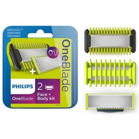 2X Ostrza Philips Zestaw Face + Body QP620/50