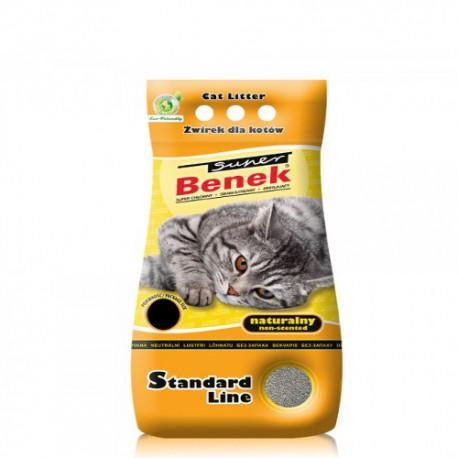 SUPER BENEK Naturalny 25L - Żółty Żwirek dla kota