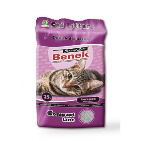 Żwirek Super Benek Compact Lawenda 25L dla kota