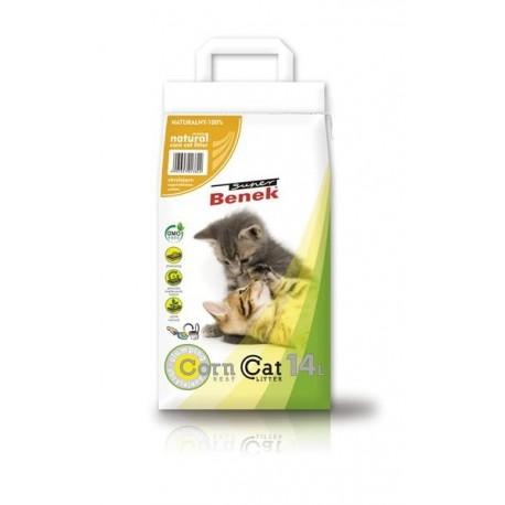 Żwirek Benek Eko Eco Corn Cat Best 14L Naturalny