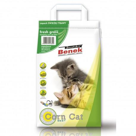 Super Benek Corn Cat 14L Zapach Trawy Zbrylający