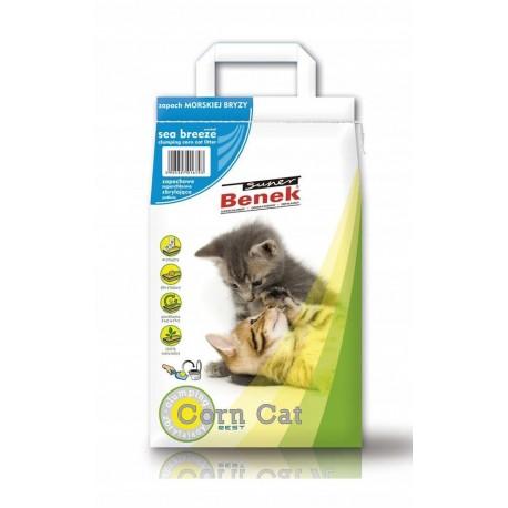 Żwirek Super Benek Corn Cat Morski 14L Zbrylający